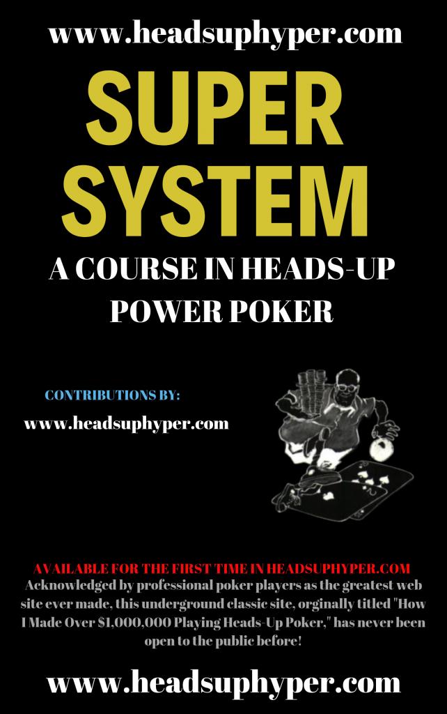 Poker Book Cover Art Doyle Brunson Super System