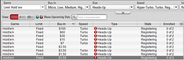 heads-up limit holdem games in pokerstars